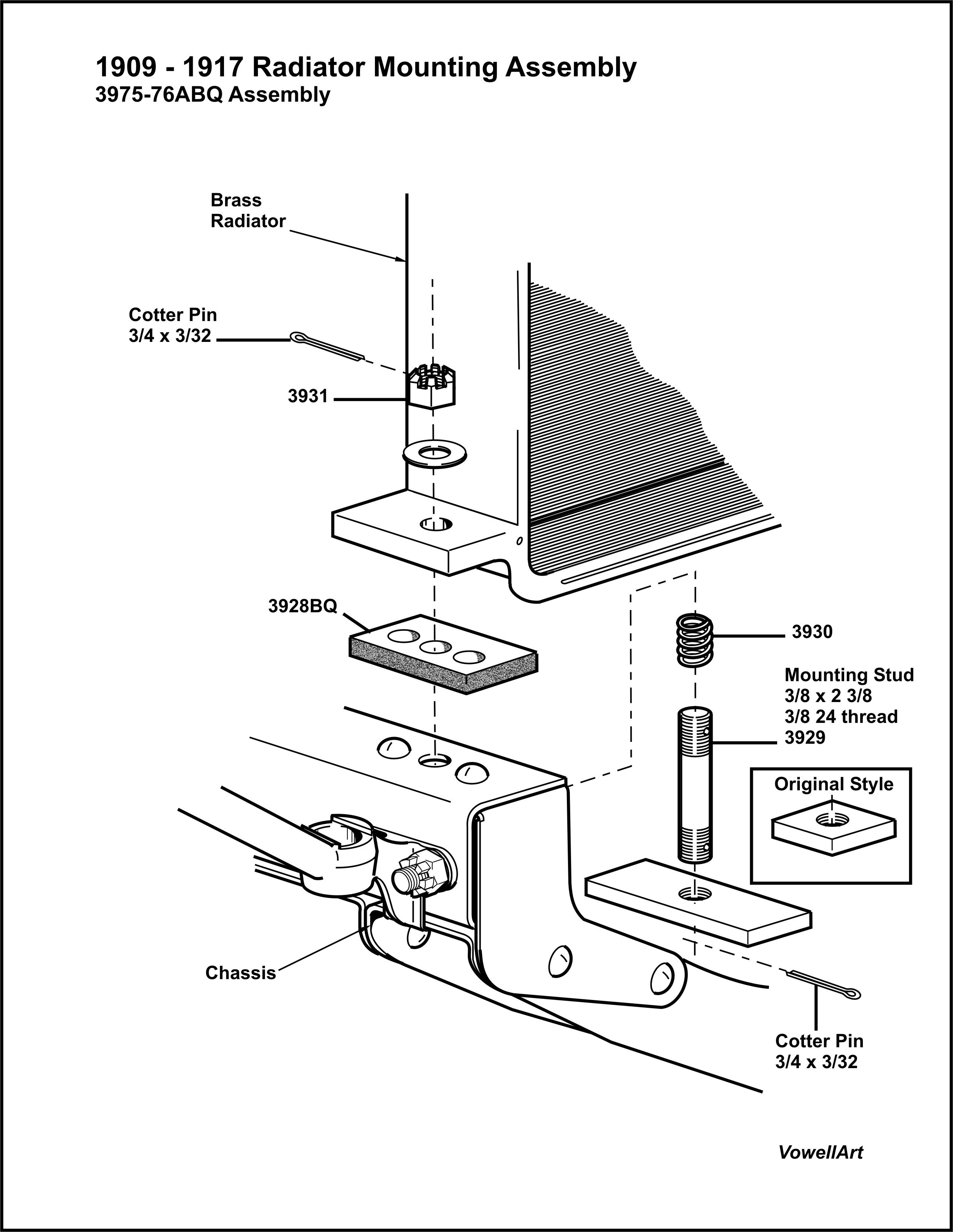ford radiator diagram
