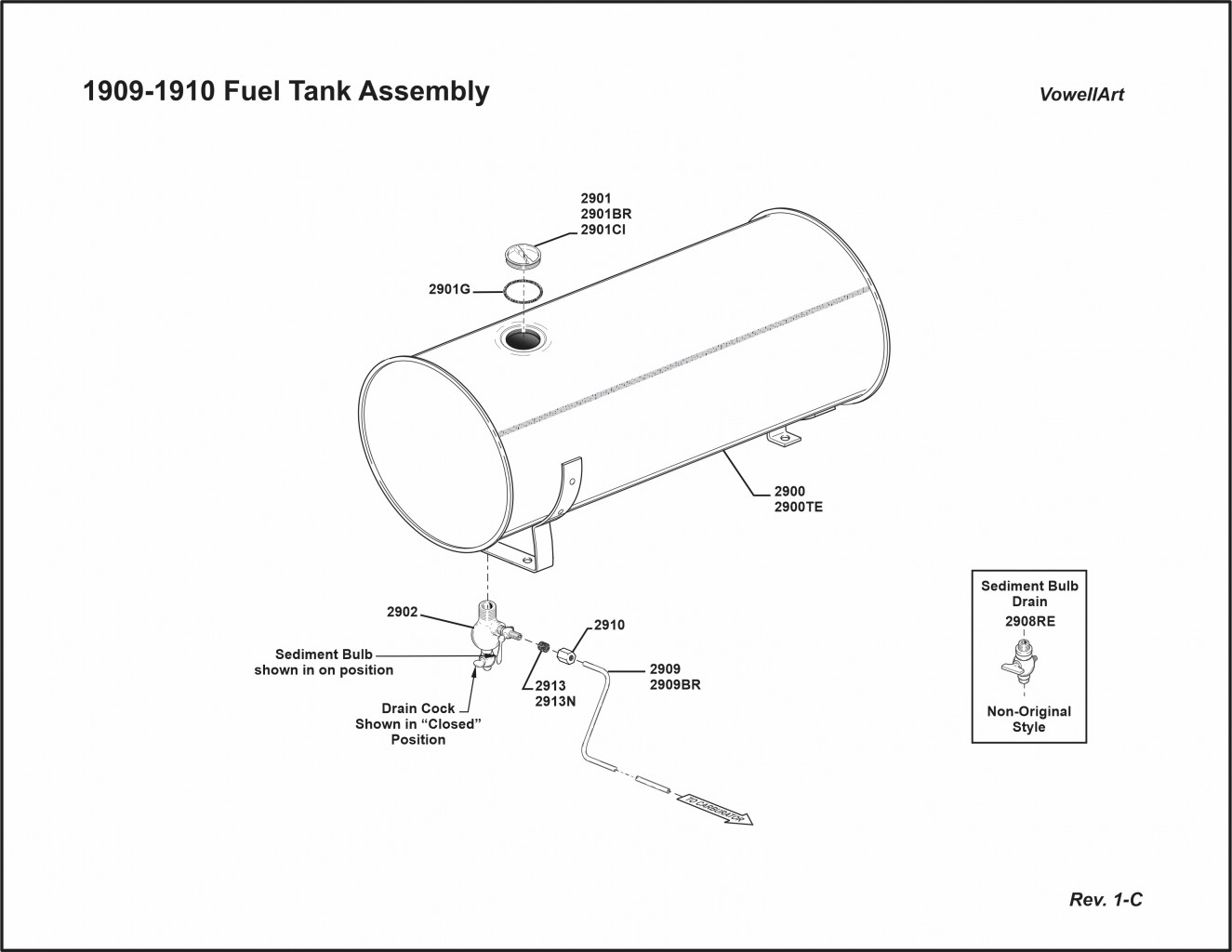 1909-1910 Fuel Tank Assembly