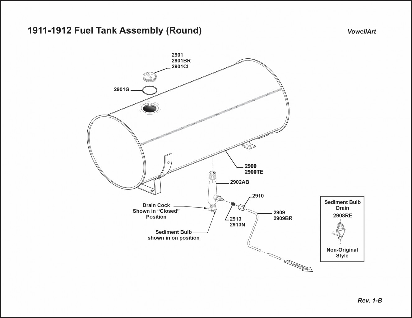 1911-1912 Fuel Tank Assembly