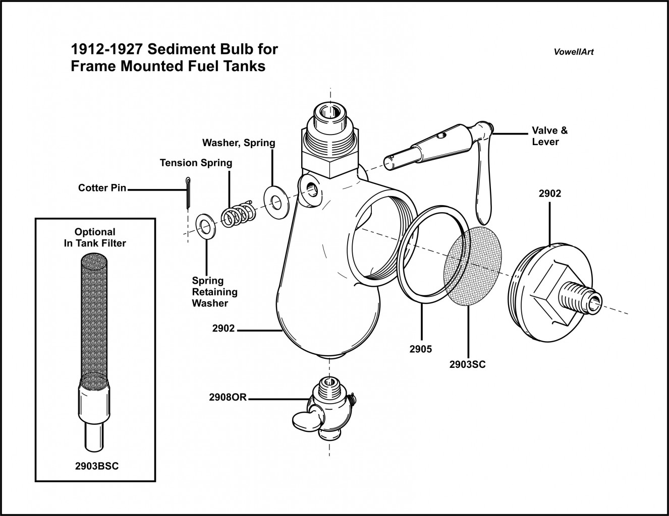 1912-1927 Sediment Bulb Assembly